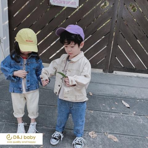 寬鬆牛仔開衫外套 - D&J baby1.jpg