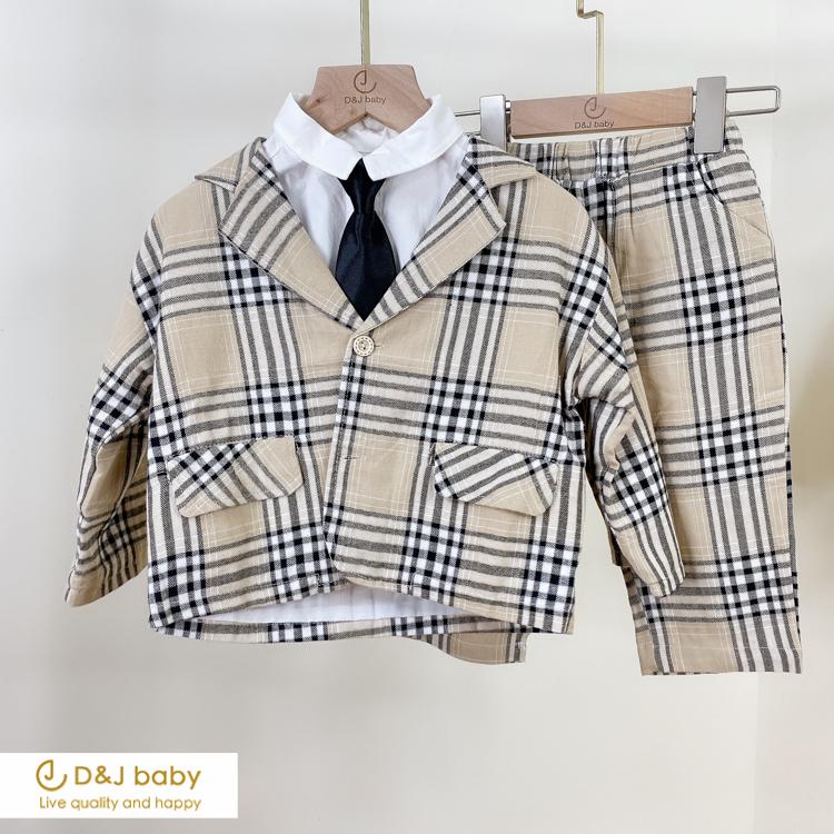 英格蘭格紋小紳士套裝 - D&J baby