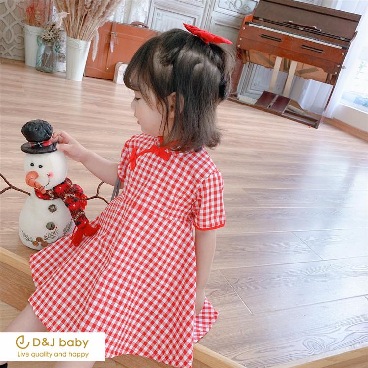 紅格紋旗袍 - D_J baby-1.jpg
