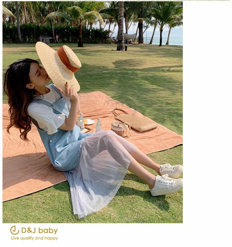 兩件式牛仔套裝孕婦套裝大碼女裝套裝 - D_J baby-8.jpg