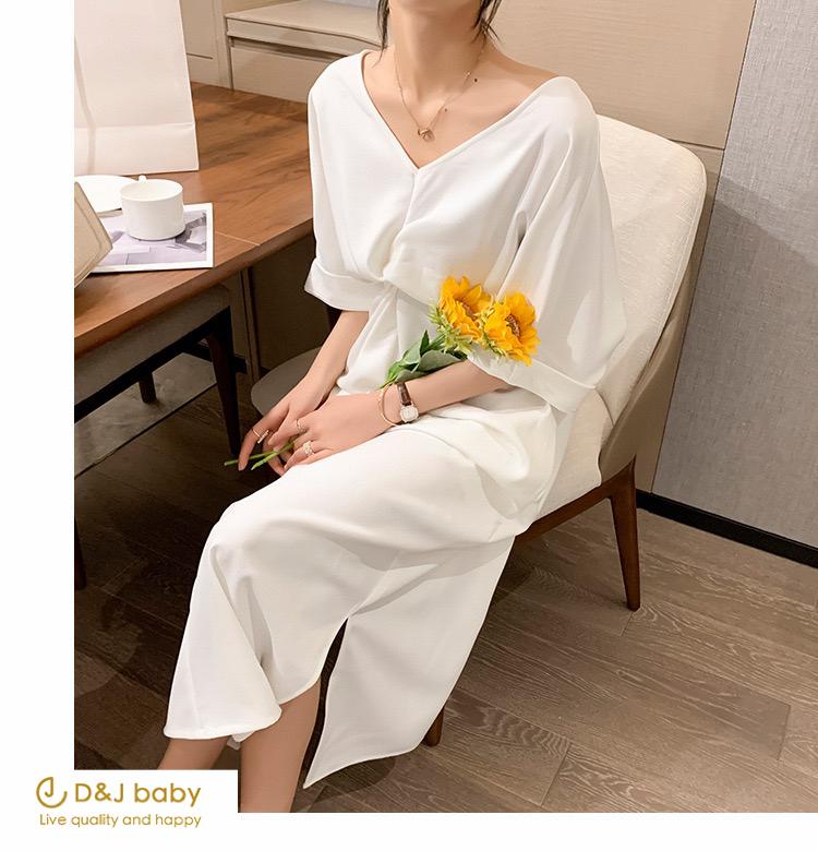 簡約白洋裝女裝孕婦洋裝大碼洋裝 - D_J baby-5.jpg
