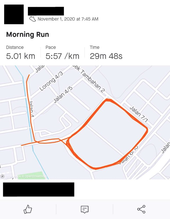 Virtual Run Result Submission Example
