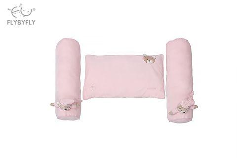 3D Bear Pillow and Flat Bolster Set of 2 (Pink).jpg