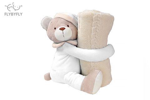 Knitted Blanket Cuddle Buddy Set (Beige).jpg