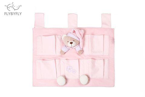 3D Bear 5 Pocket Nursery Organiser (Pink).jpg