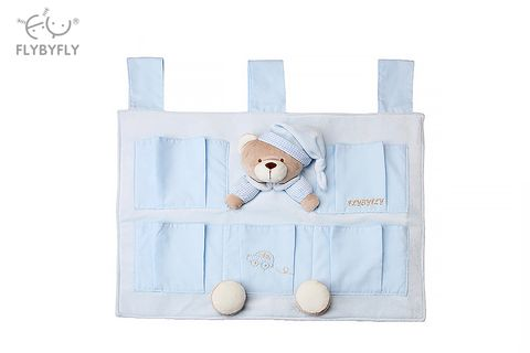 3D Bear 5 Pocket Nursery Organiser (Blue).jpg