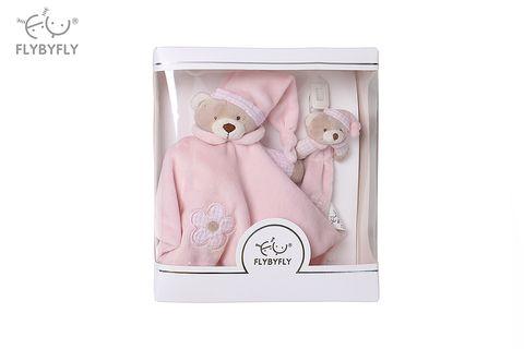 bear hand puppet and pacifier set- pink.jpg