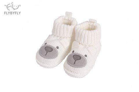 knitted booties white bear.jpg