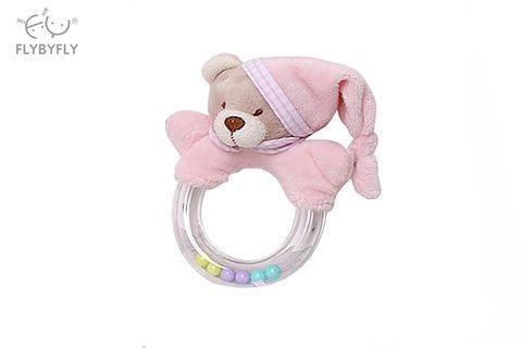 3D Bear ring rattle - pink.jpg