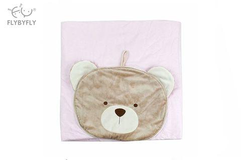 3D Bear pillow + blanket - pink .jpg