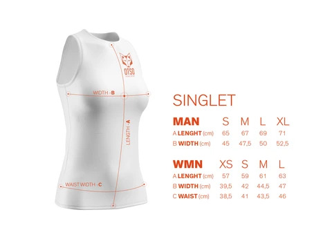OTSO Tank Top Sizing Guide