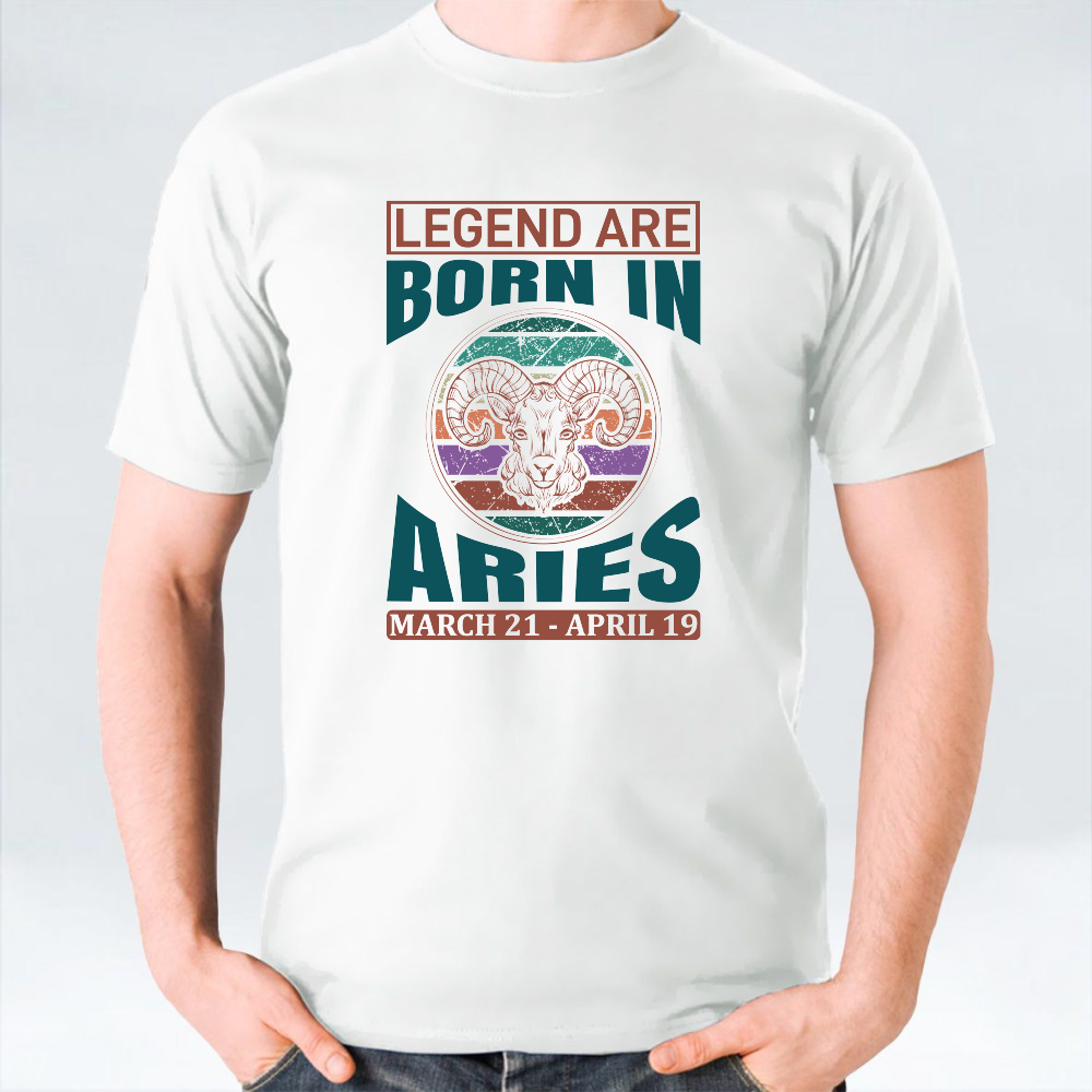 Legends Are Born In Aries Unisex T-Shirt