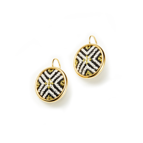 1. Gold Black Arabesque GLOW Statement Earrings (b).jpg