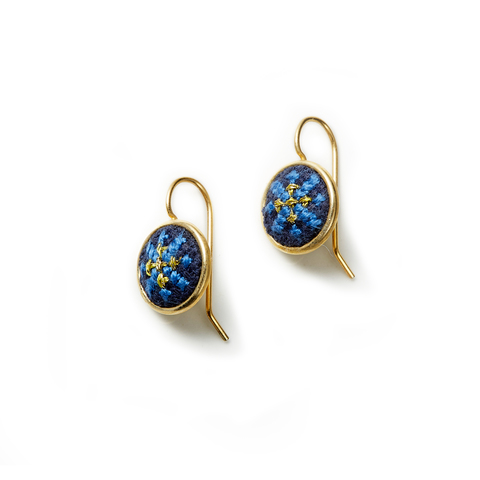 3. Gold Blue Arabesque GLOW Dainty Earrings (b).jpg