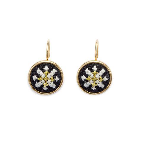 4. Gold Black Arabesque GLOW Dainty Earrings (a).jpg
