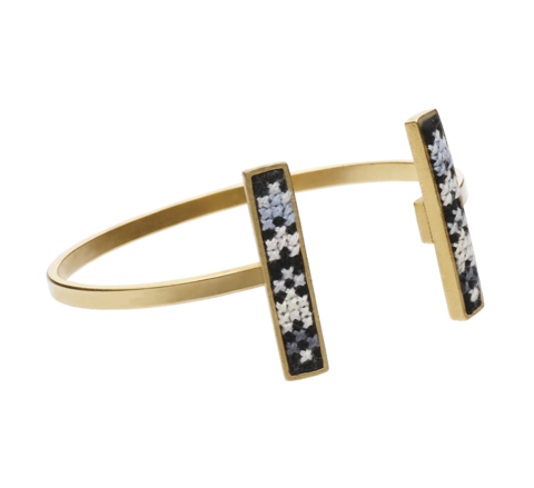 16. Gold Black Cuff Bangle (b).png