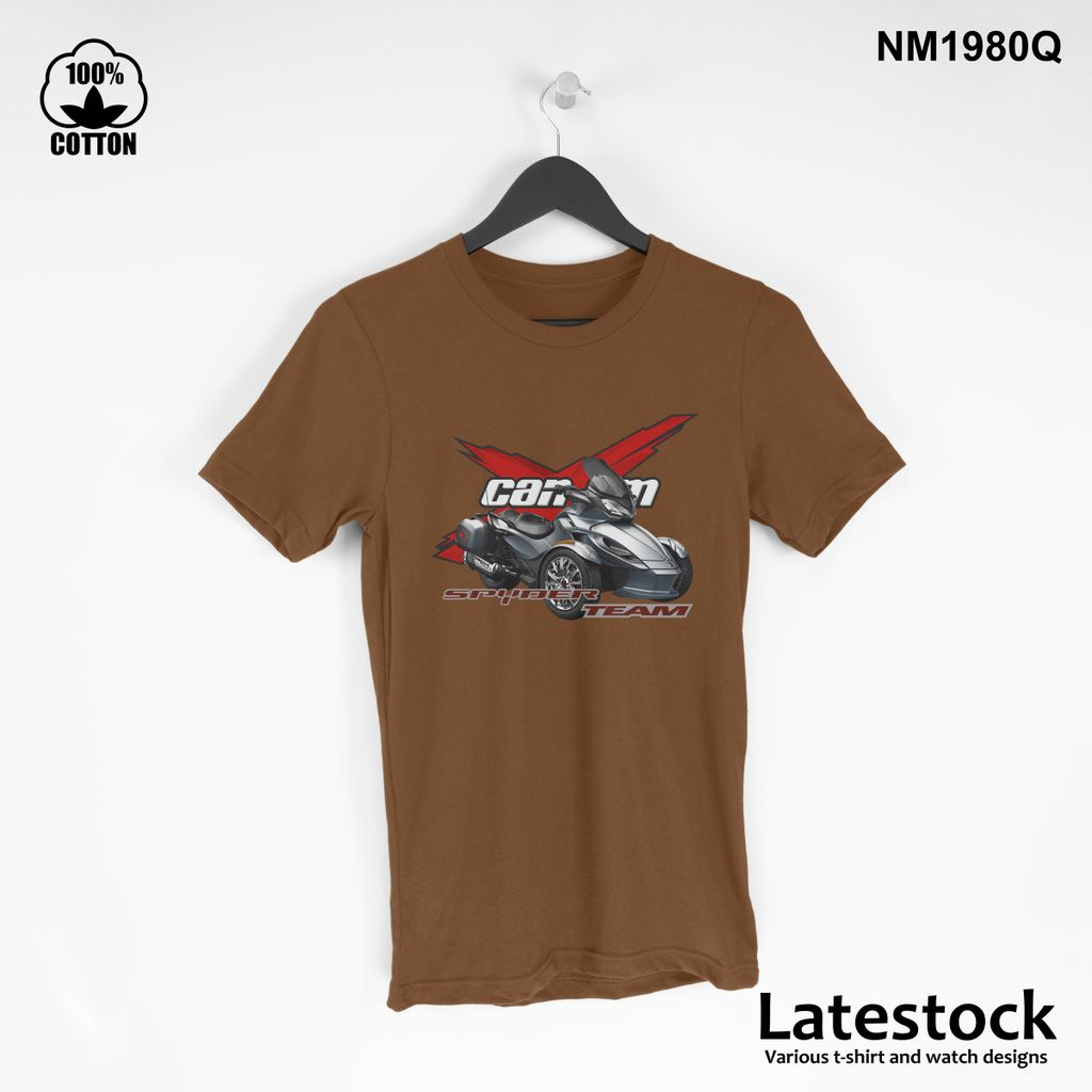 1 can am spider RS LOGO Sport T Shirt Tee Mens Clothing saddle brown.jpg