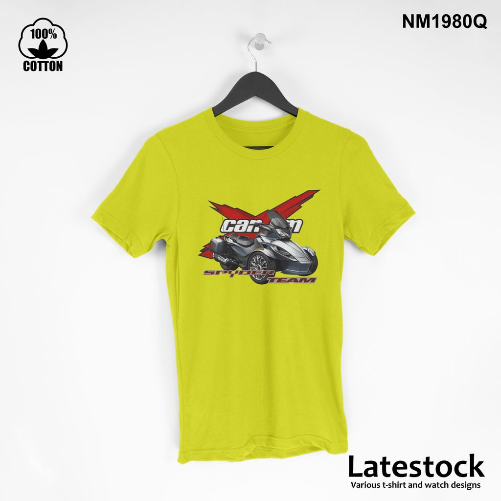 1 can am spider RS LOGO Sport T Shirt Tee Mens Clothing yellow.jpg