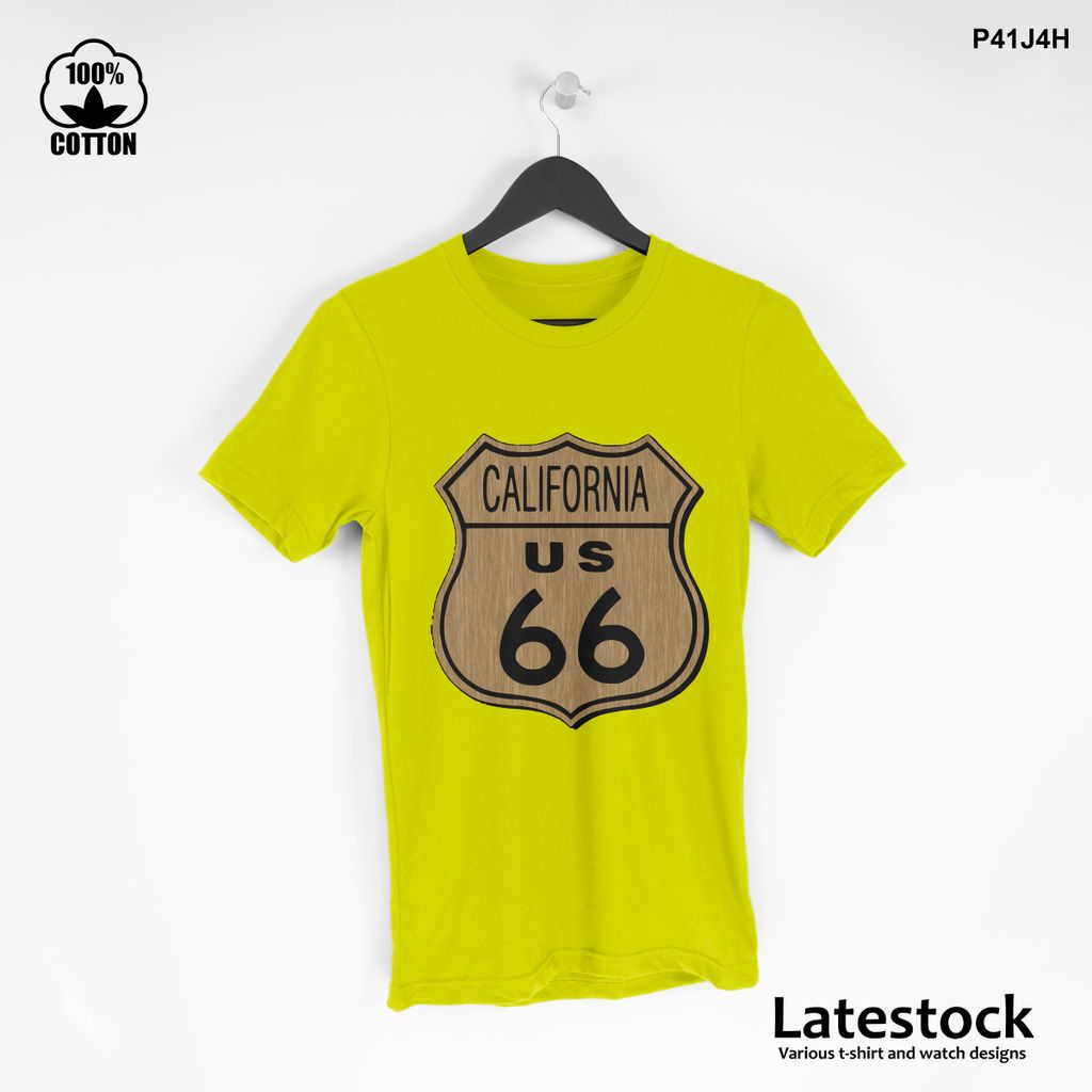 1 LIMITED EDITION!! Route 66 California Graphic T shirt Yellow.jpg