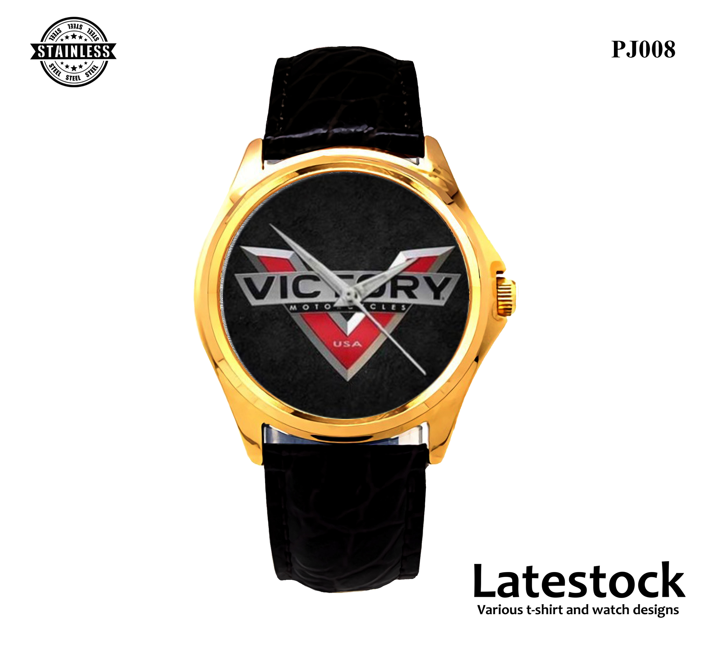 PJ008 Victory steel Sport Metal Watch Gold.jpg
