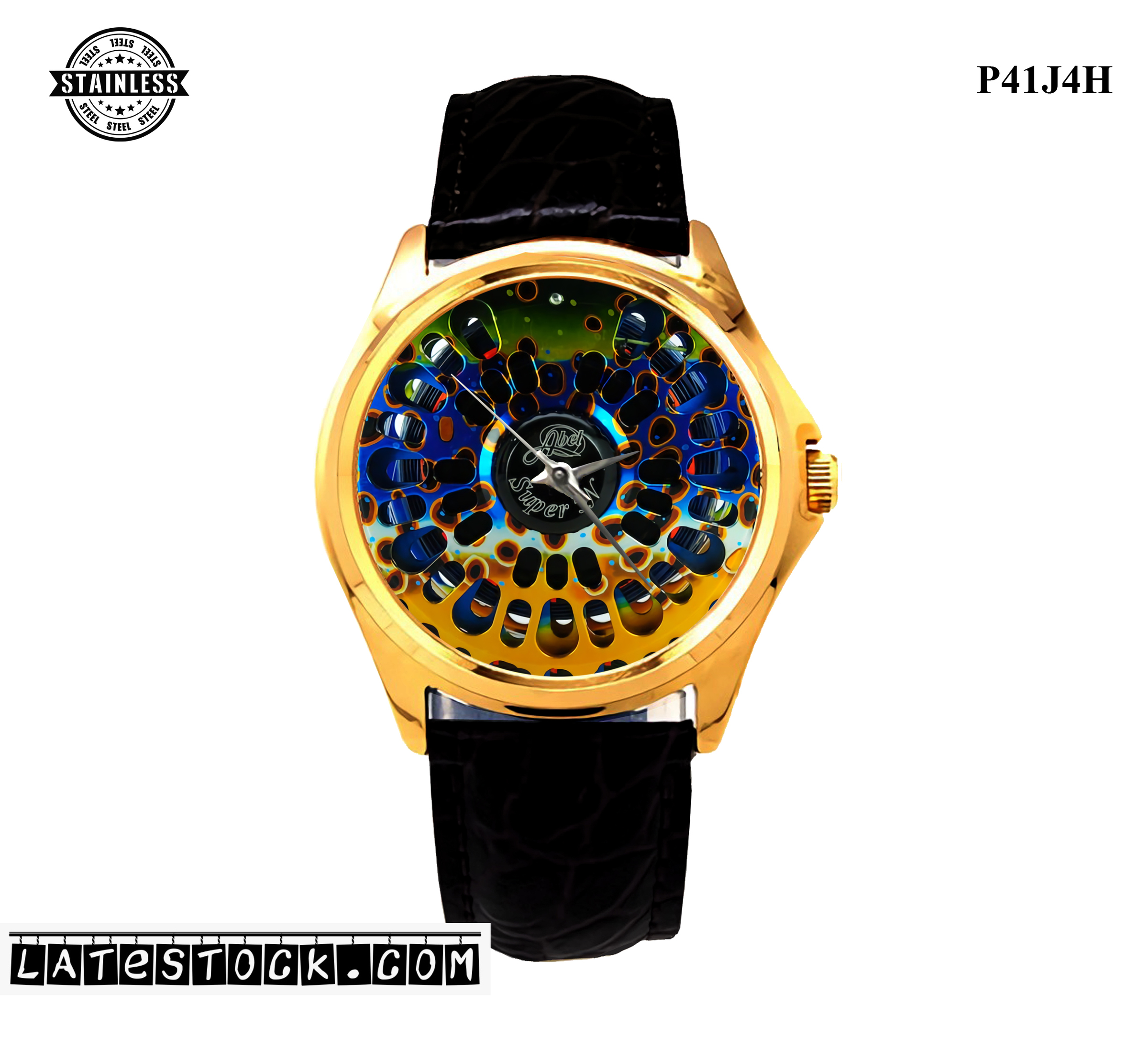 1LIMITED EDITION!!Abel Super 5N DeYoung Brown Trout Flank Sport Metal Watch B.jpg