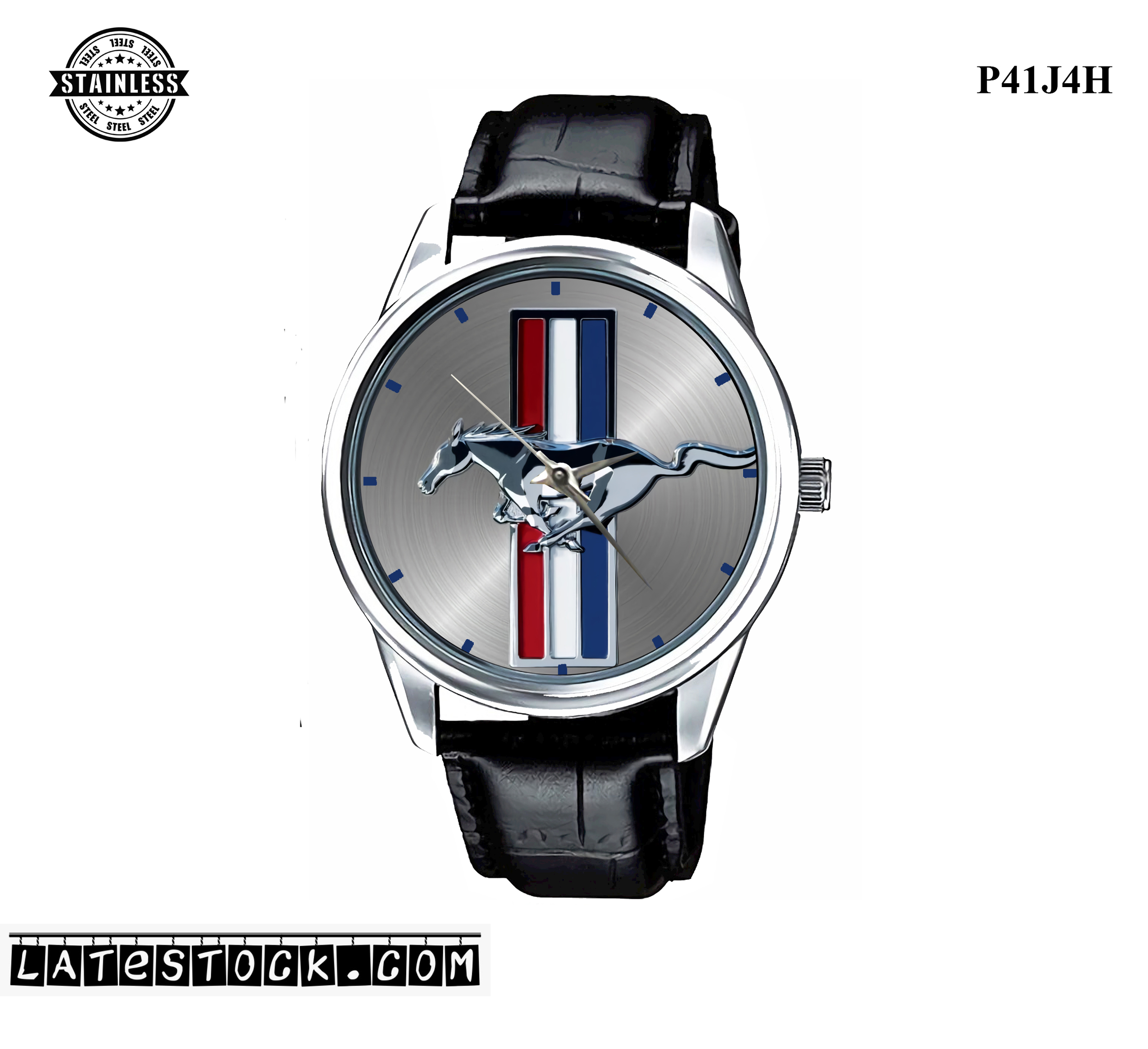 1.3LIMITED EDITION!! Fords Mustang Logo Emblem Sport Metal Watch b.jpg