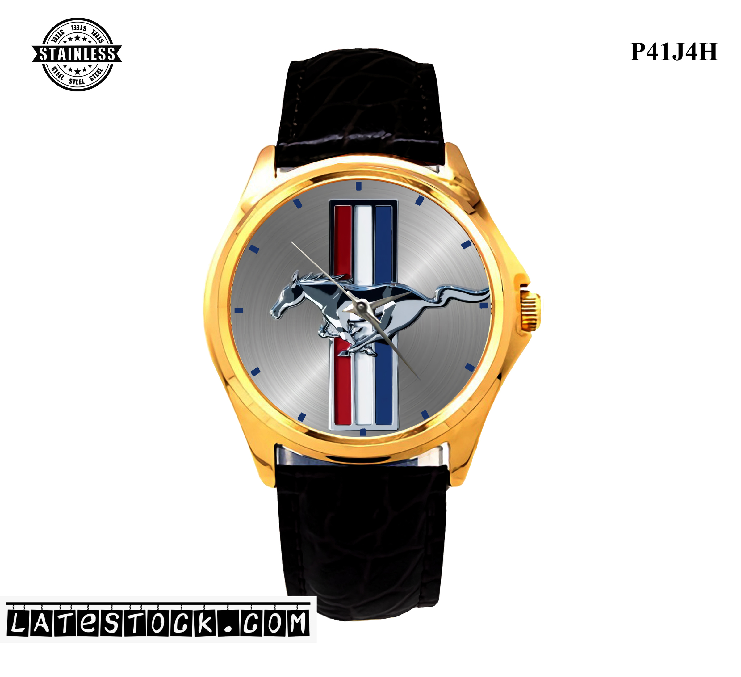 1.3LIMITED EDITION!! Fords Mustang Logo Emblem Sport Metal Watch.jpg