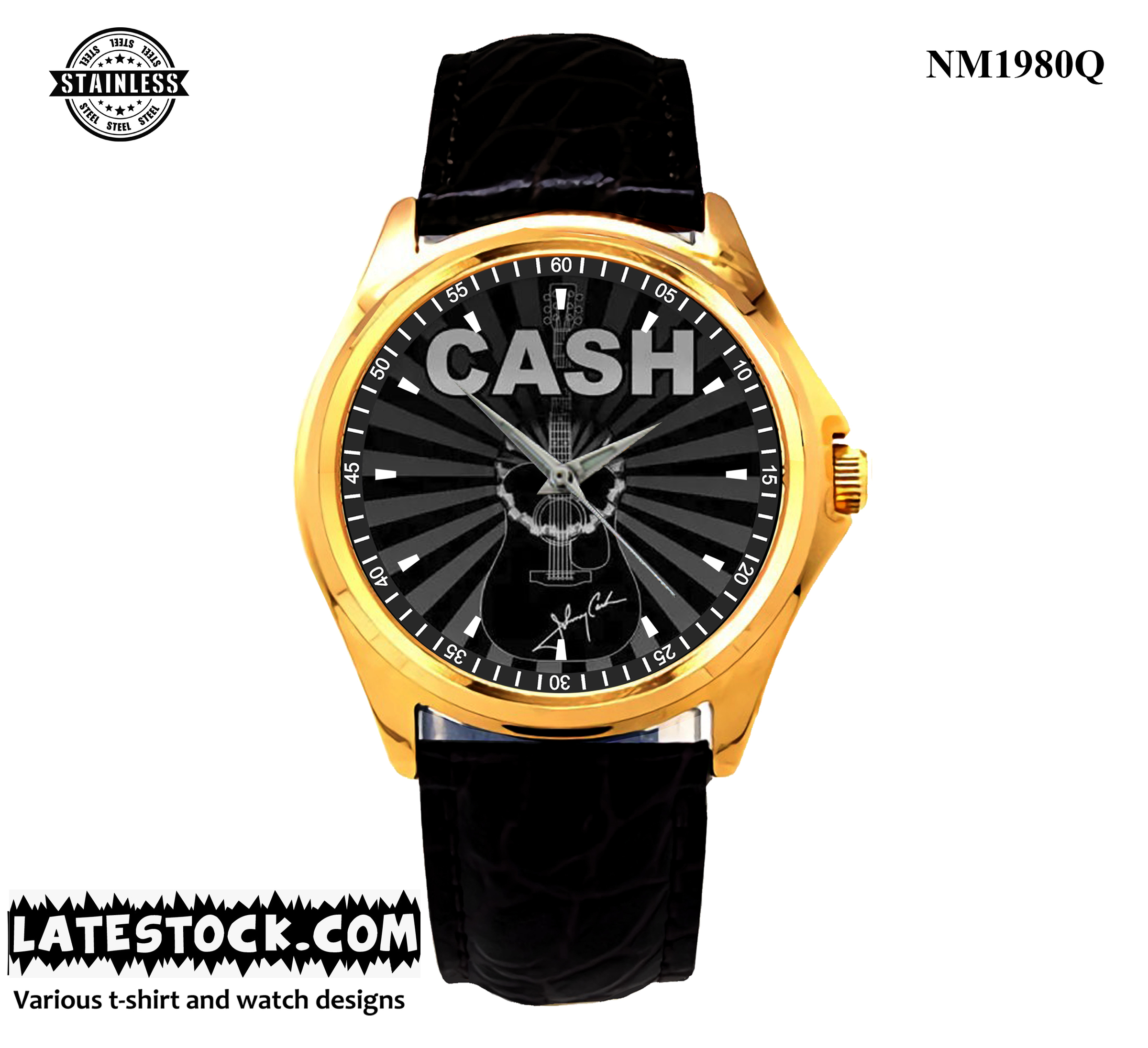 4.1 new design Abel Johnny Cash Reel sport leather watch gold- Limited Edition.jpg