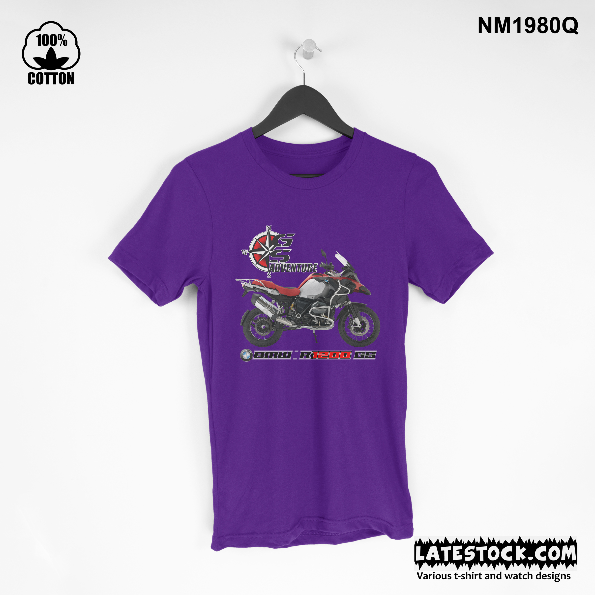 1.11  new design Mens Clothing BMW-R1200GS Adventure T Shirt Tee blue violet.jpg