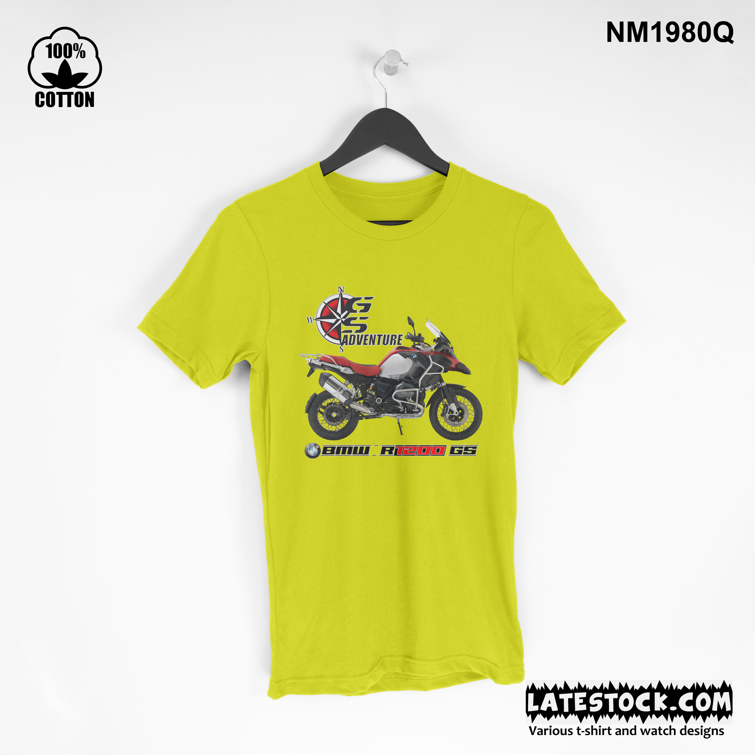 1.11  new design Mens Clothing BMW-R1200GS Adventure T Shirt Tee yellow.jpg