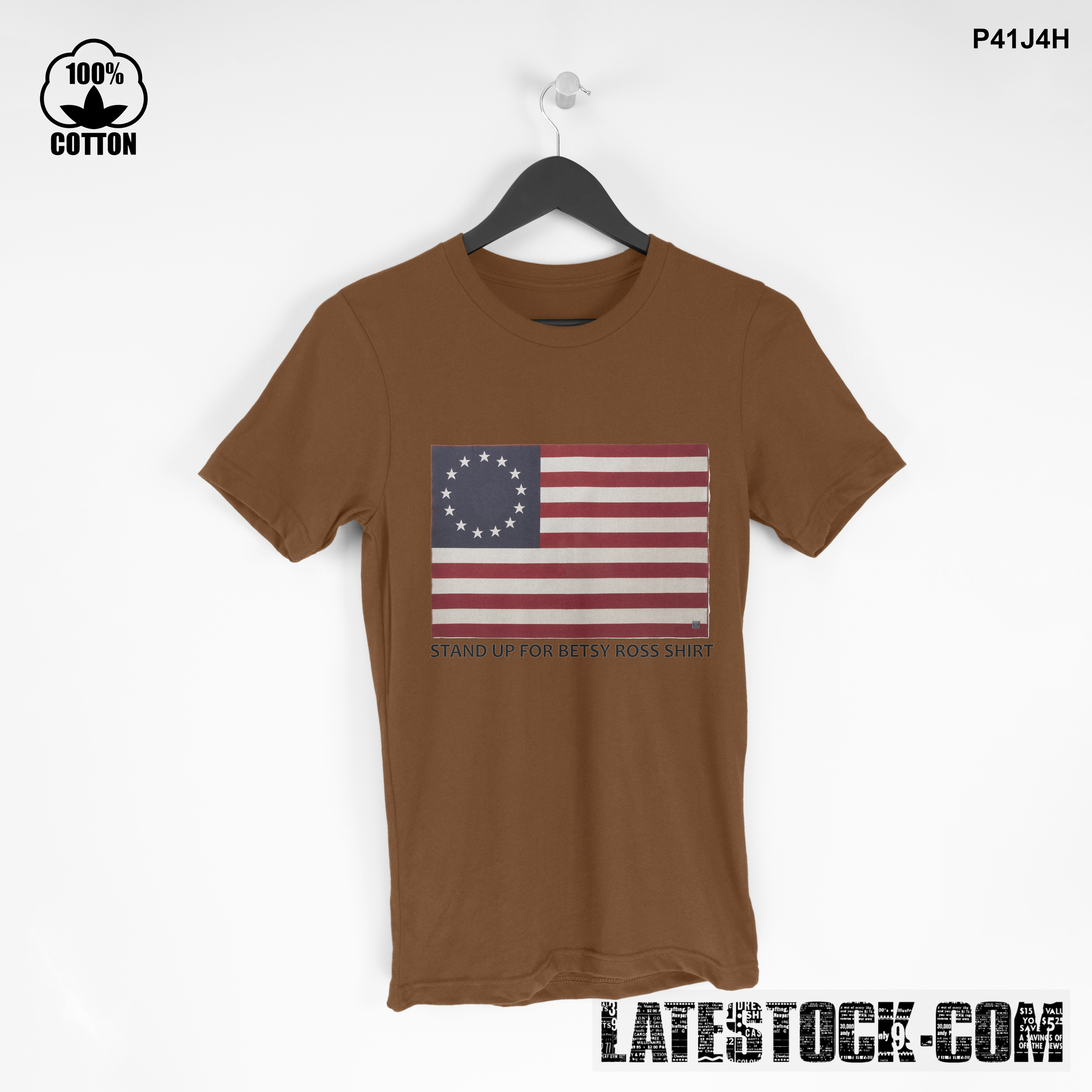 1LIMITED EDITION!! Stand Up for Betsy Ross T SHIRT Saddle Brown.jpg