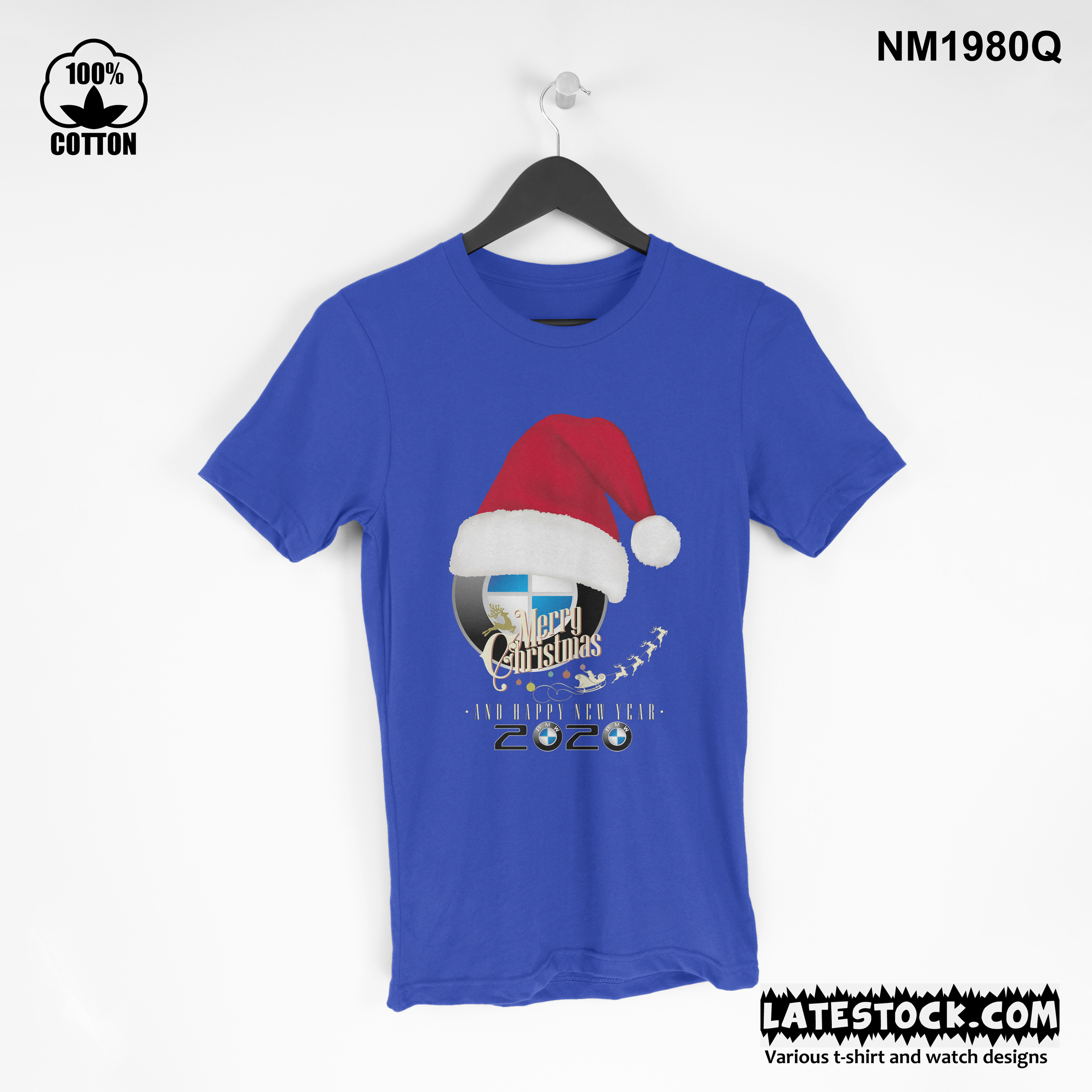 1.30 new Design BMW cristmas and new year t shirt Tee best gift dodger blue.jpg
