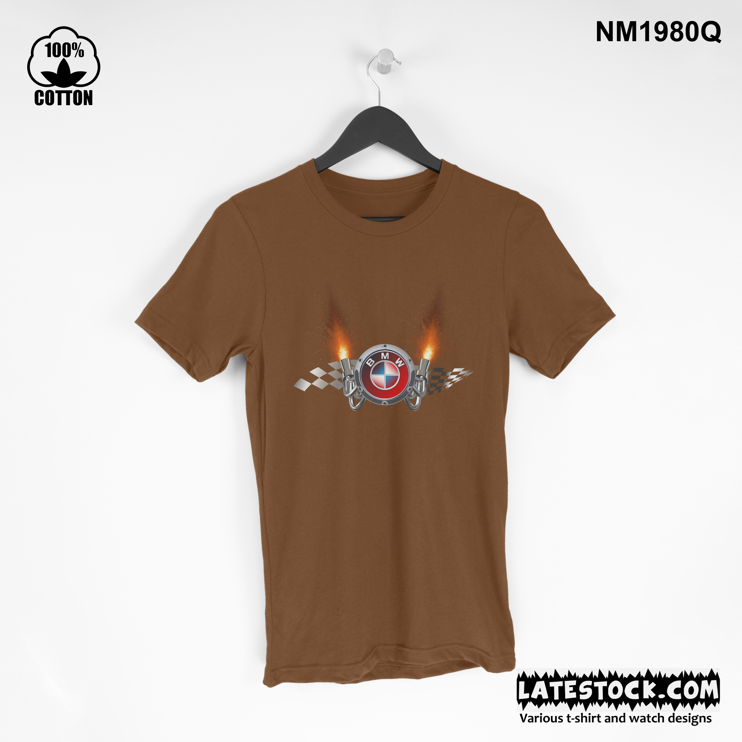 1.29 New Design mens Clothing BMW Speed LOGO sport t  Shirt Tee luxury Design saddle brown.jpg