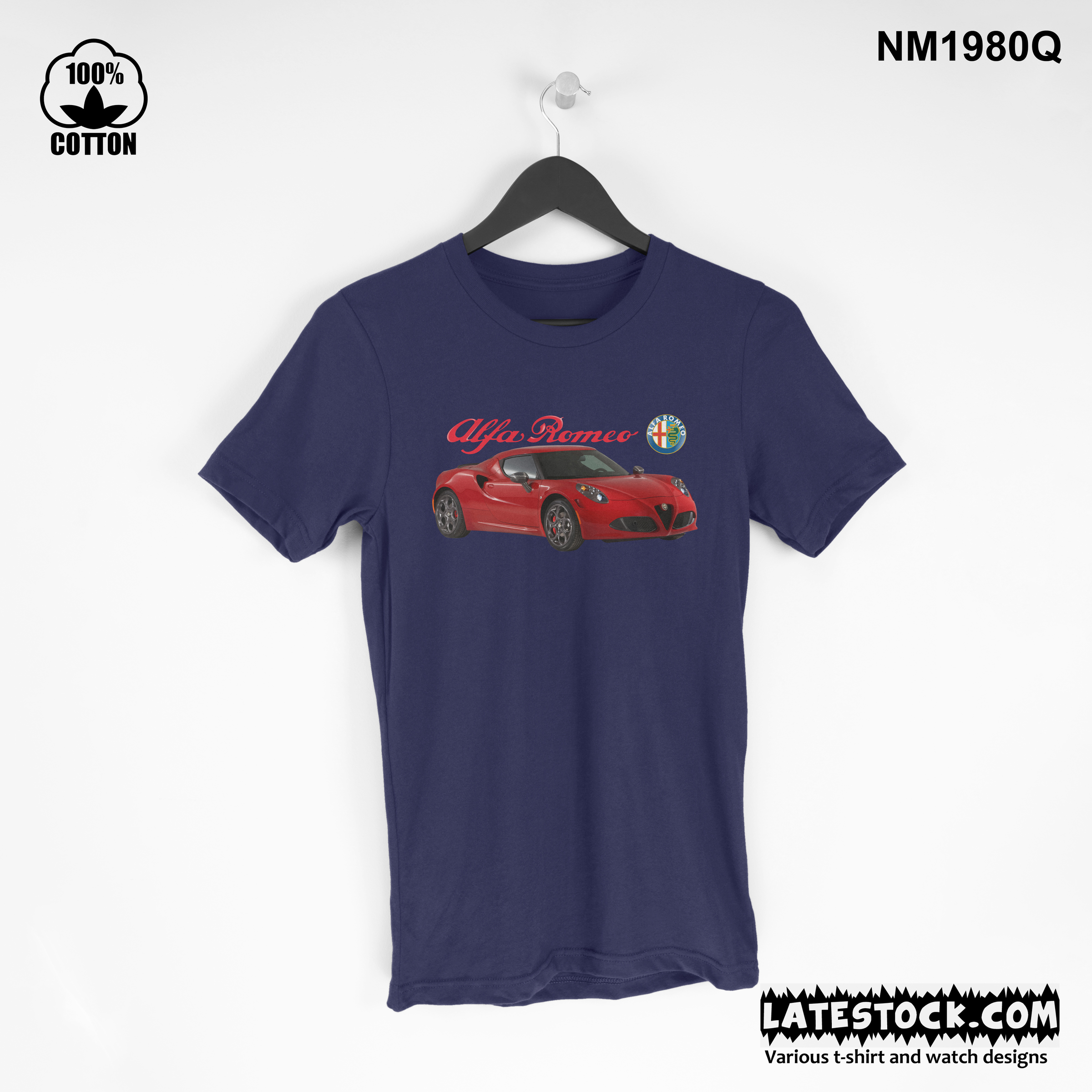 1.6 rare item, new design Alfa Romeo 4C T Shirt Tee Unisex dark blue.jpg