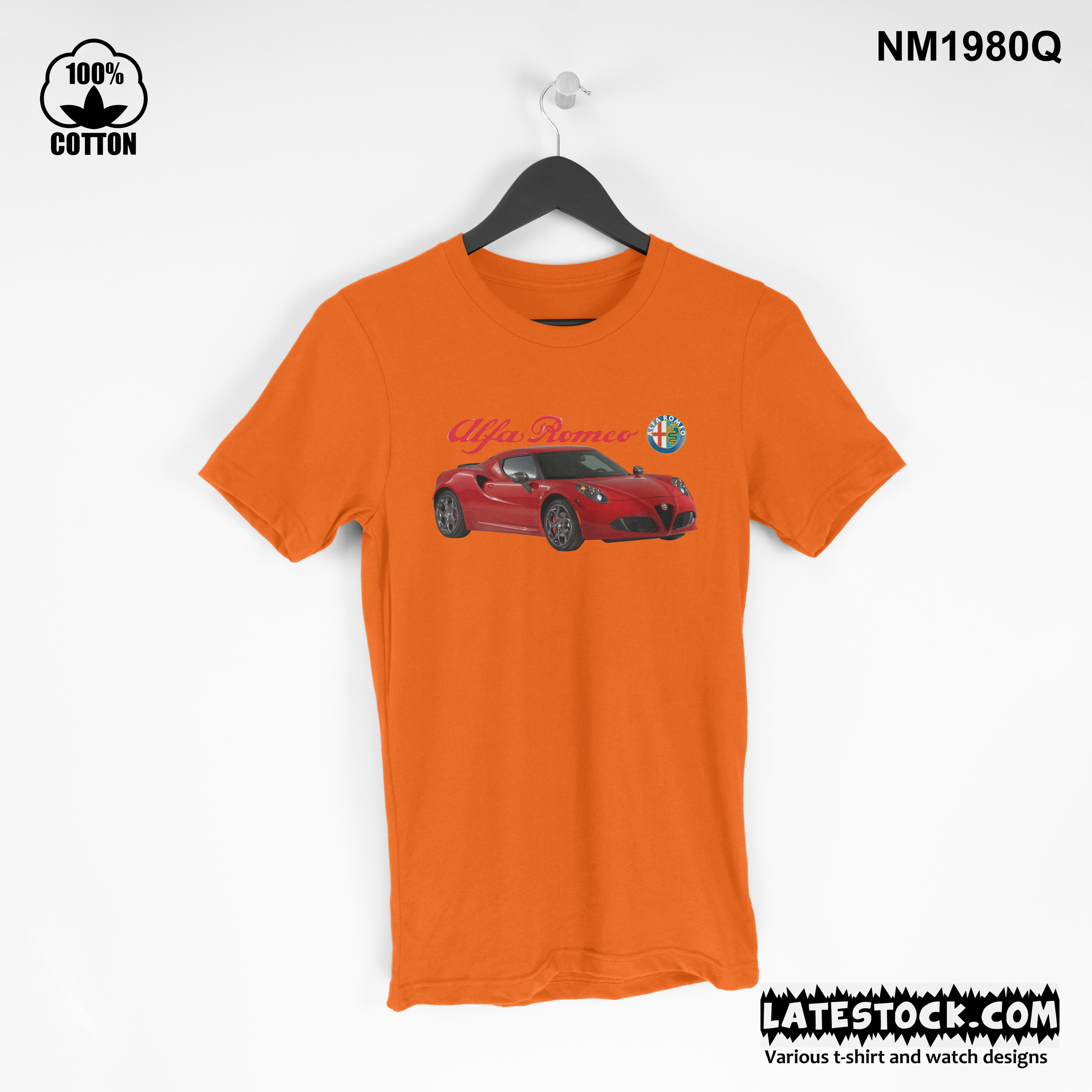 1.6 rare item, new design Alfa Romeo 4C T Shirt Tee Unisex orange.jpg
