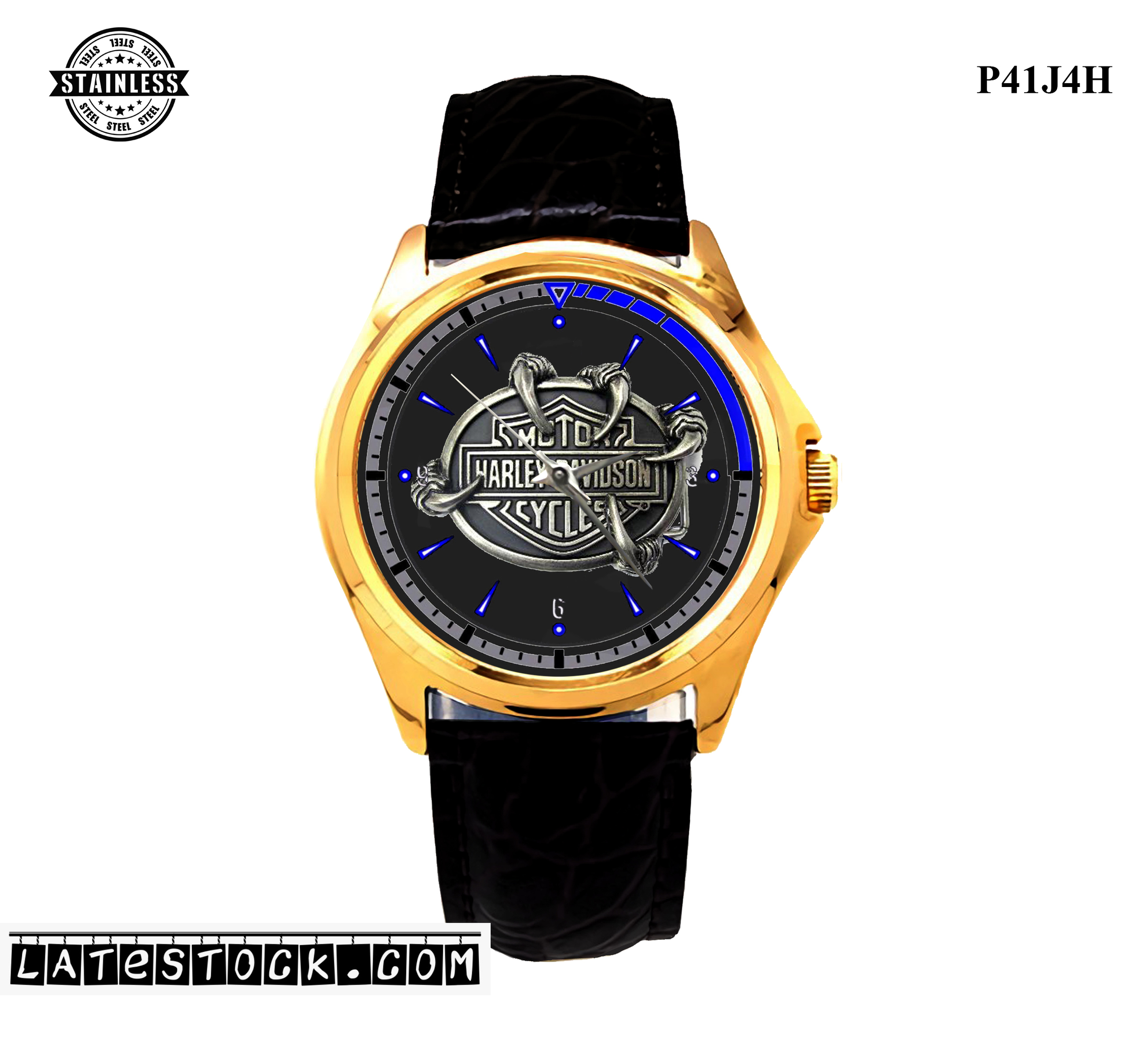 1.17LIMITED EDITION!! Harley Davidson Motorcycle eagle black Sport MEtal Watch b.jpg