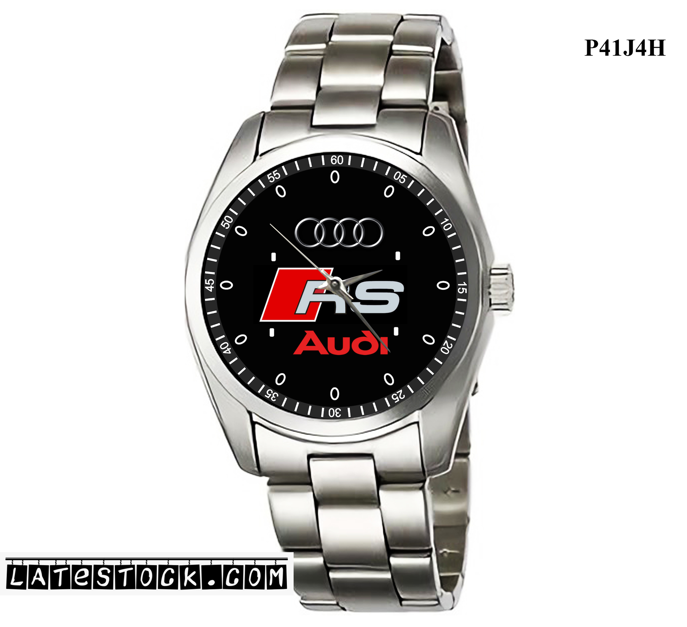 1.4LIMITED EDITION!! Audi RS logo Sport Metal Watch.jpg
