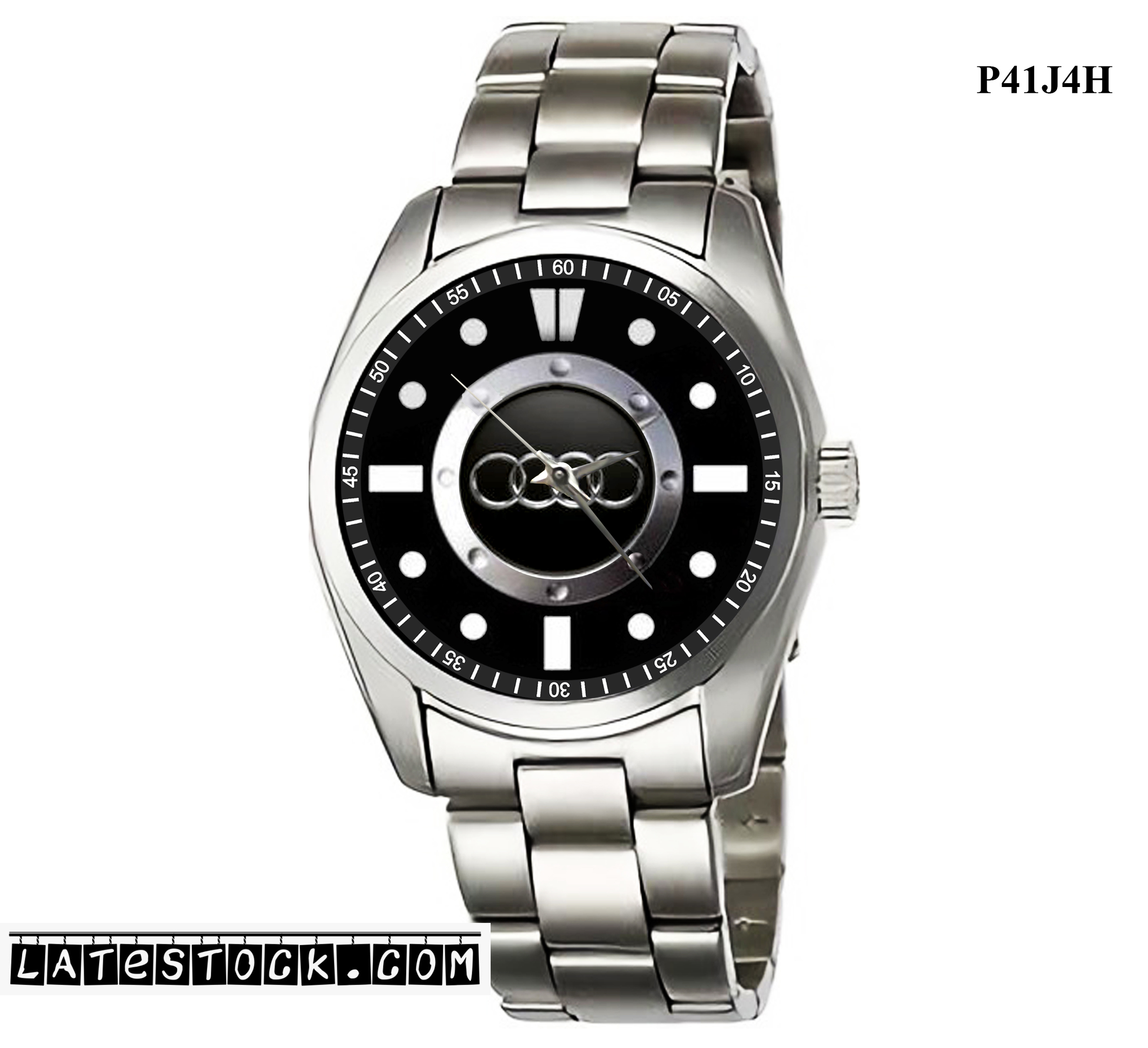 1.5LIMITED EDITION!! AUDI LOGO STEEL Sport Metal Watch b.jpg