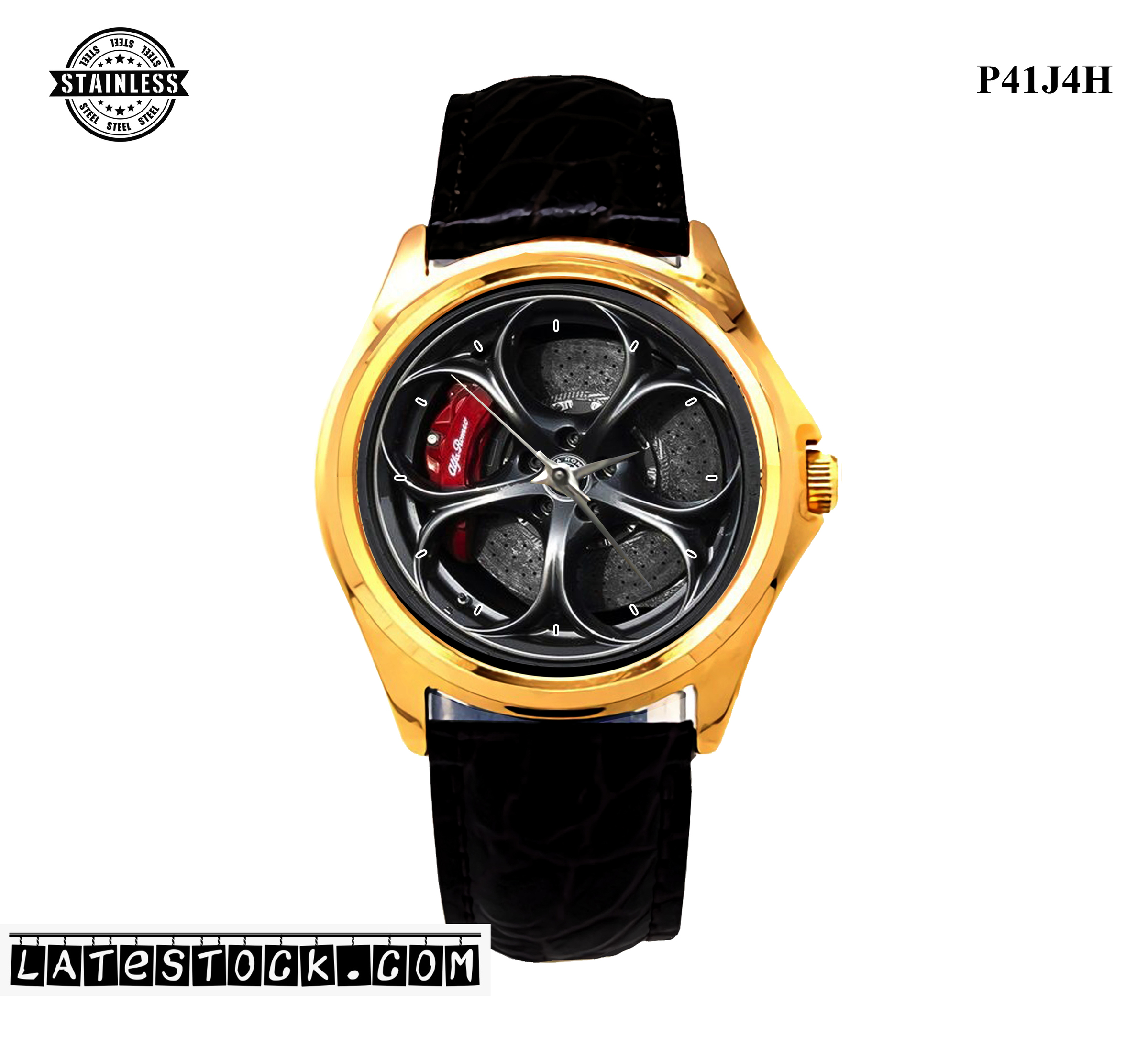 LIMITED EDITION!! Alfa Romeo Giulia Quadrifoglio steel Sport Metal Watch - Copy.jpg