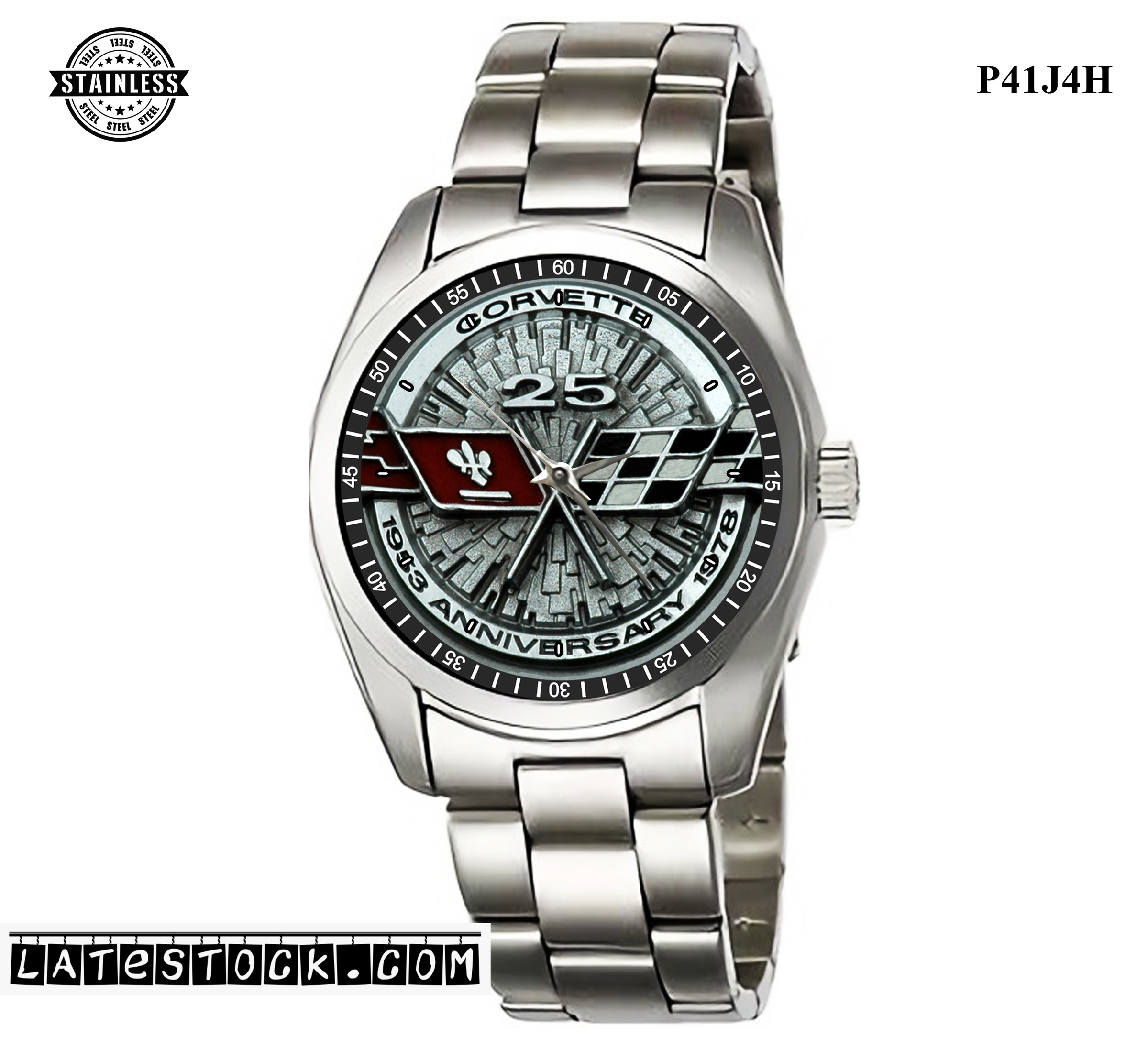 7LIMITED EDITION!!1978-Chevy-Corvette 25 years Sport Metal Watch.jpg