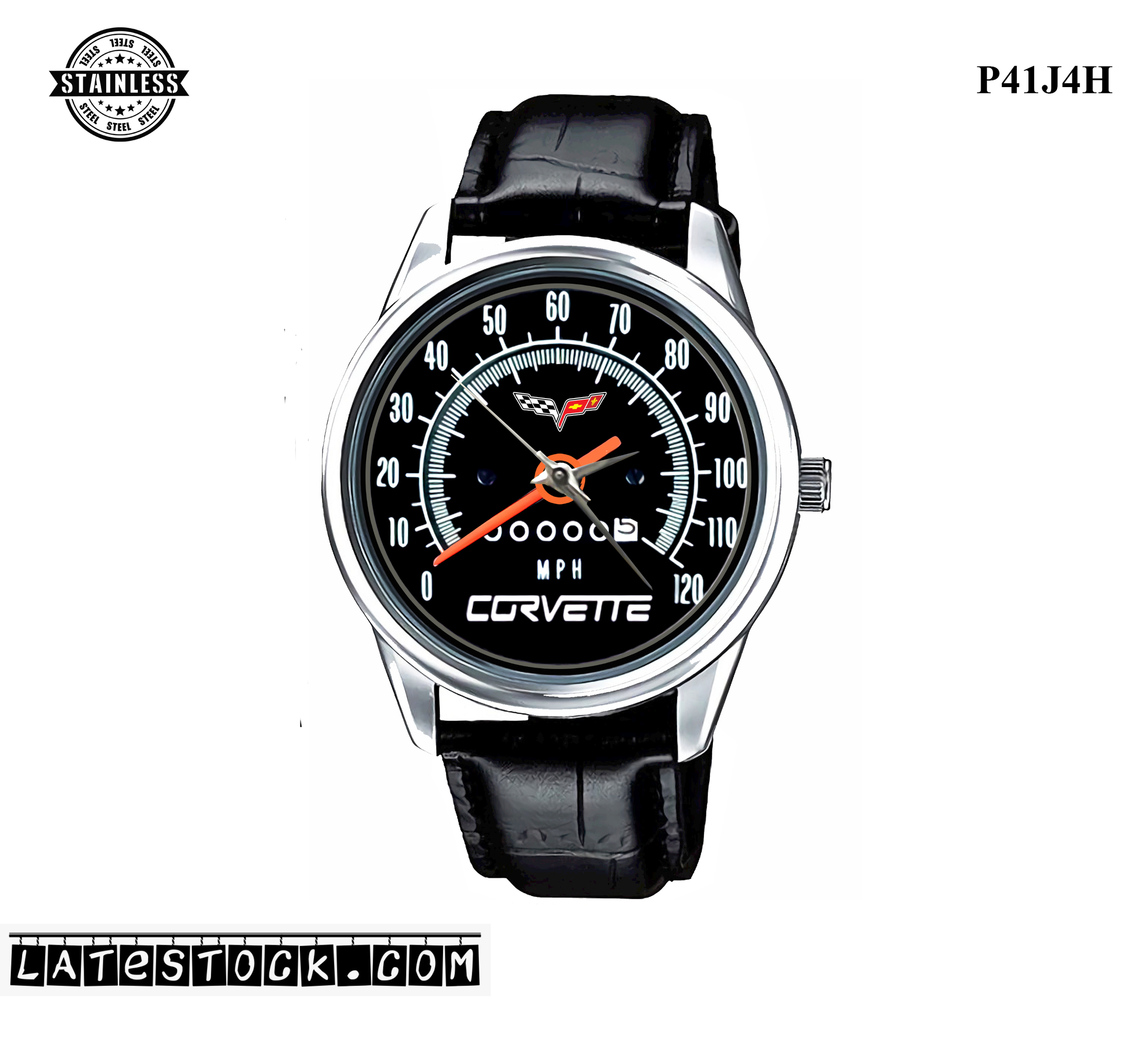 PJ63 LIMITED EDITION!! Chevrolet Corvette Chevy Speedometer Sport Metal Watch a.jpg