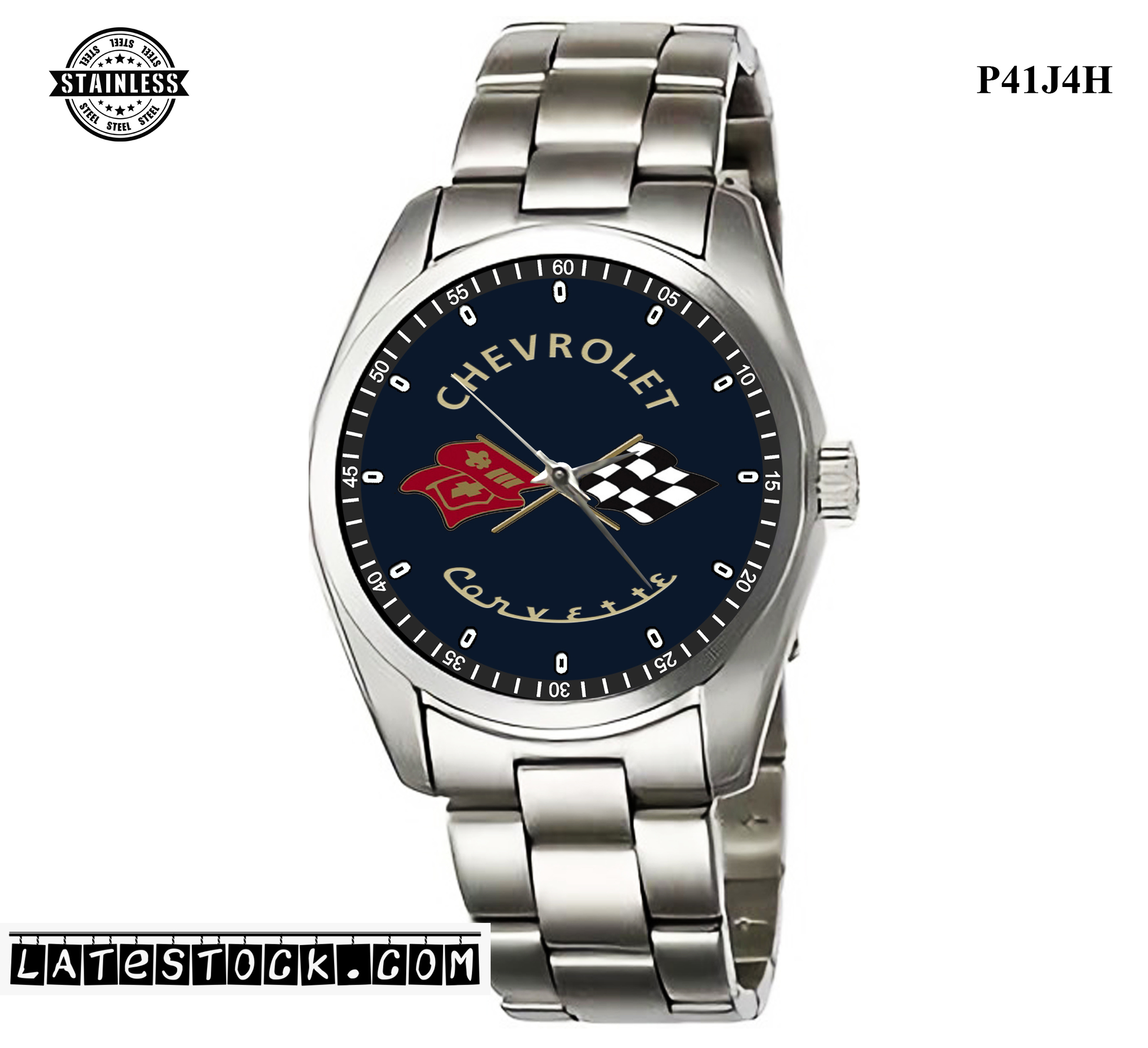 LIMITED EDITION!! Corvette American Muscle Carbon Sport Metal Watch.jpg
