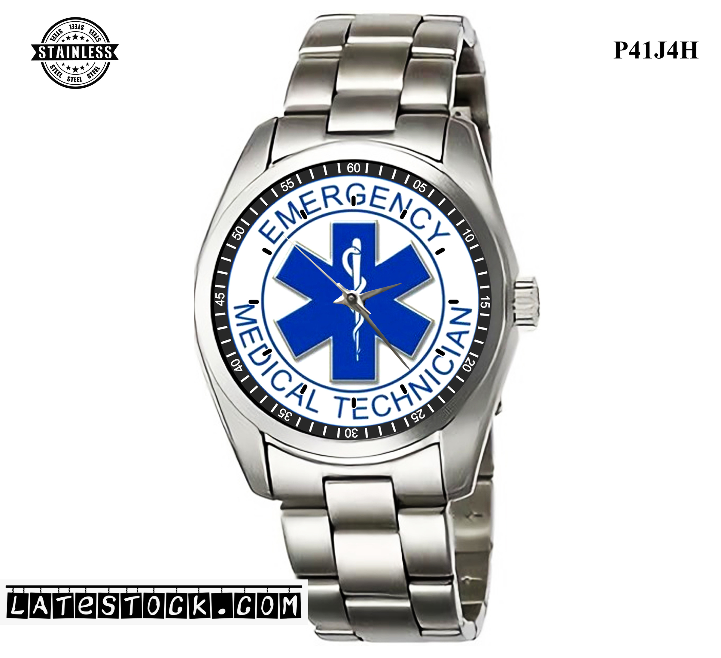 LIMITED EDITION!! EMT Star of Life EMS Rescue Paramedic Sport Metal Watch.jpg
