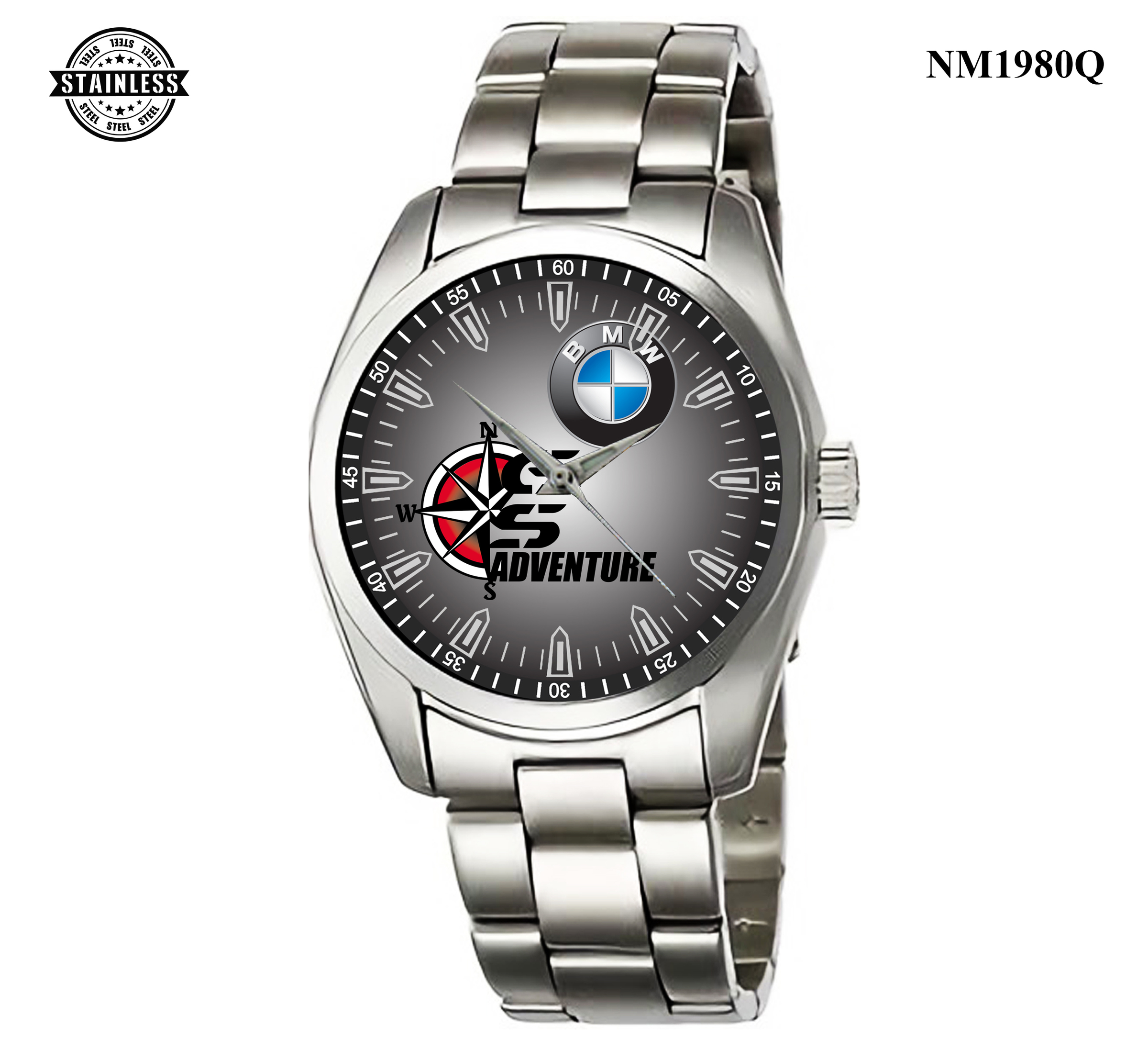 1.10 Mens Jewelery BMW GS ADVENTURE Sport Logo Rare Item Sport Metal Watch.jpg