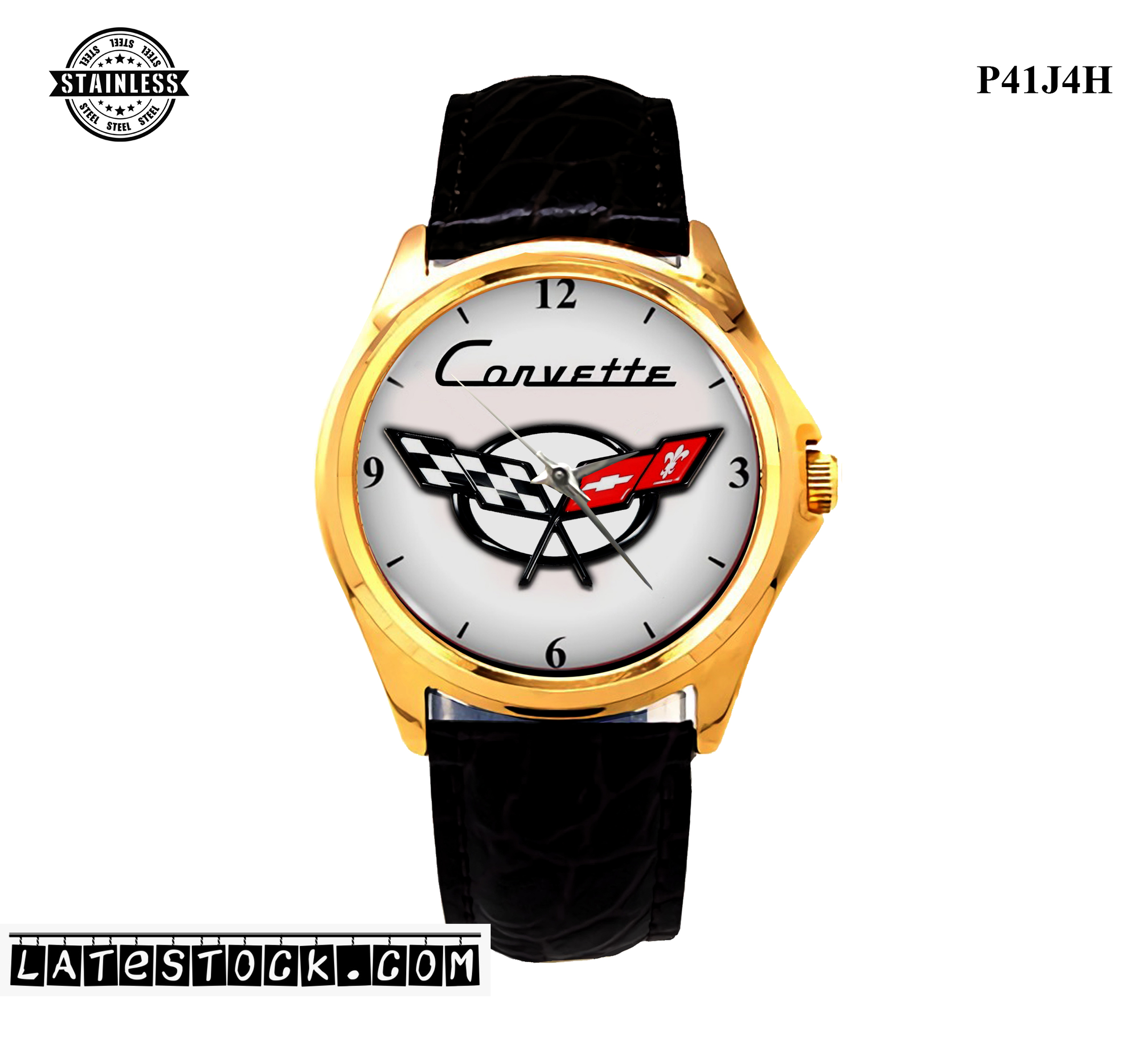 LIMITED EDITION!! Exclusive Item! Corvette_Chevy_Logo_C5 Sport Metal Watch b.jpg