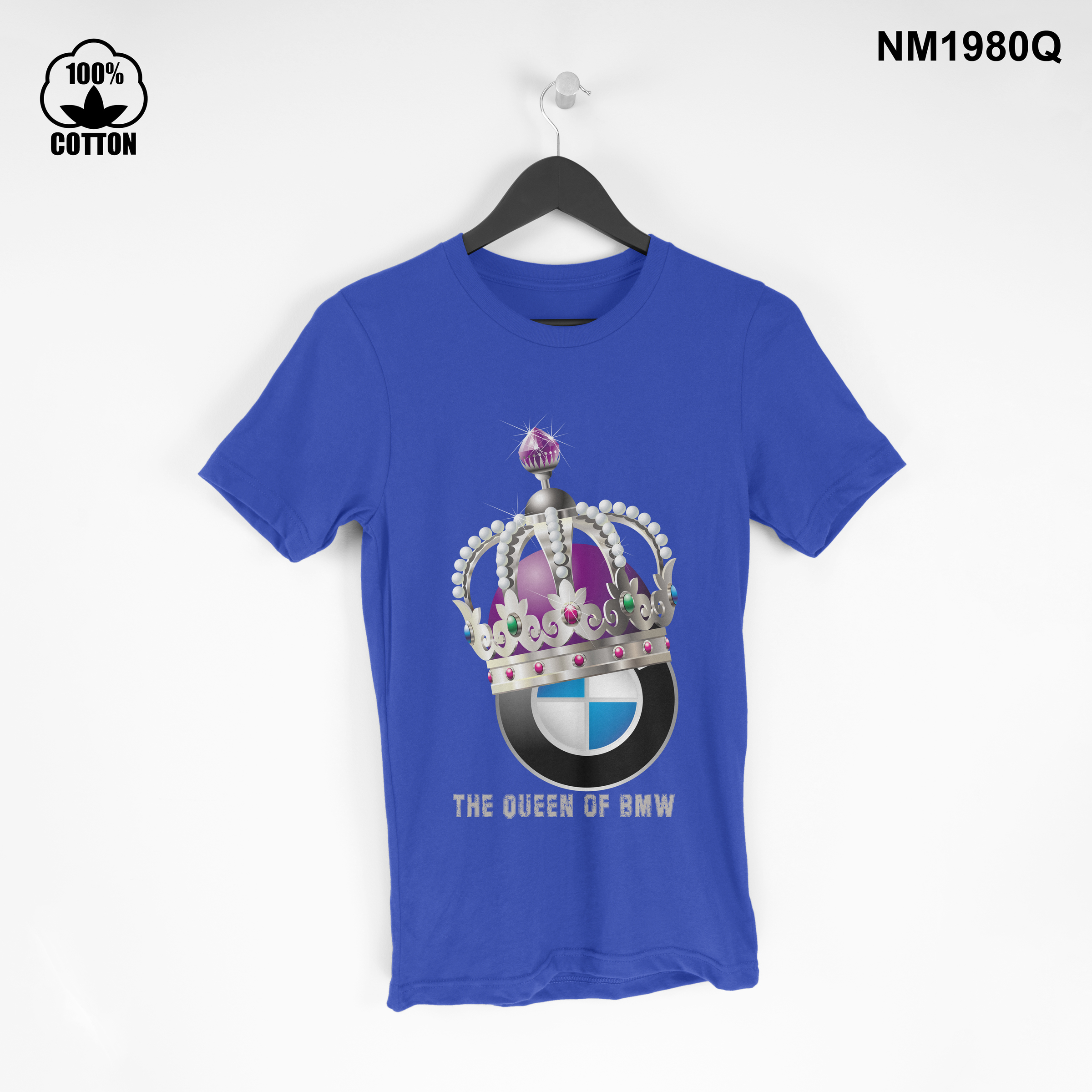 1.37 the Queen of BMW T Shirt Tee mens Clothing New Design dodger blue.jpg