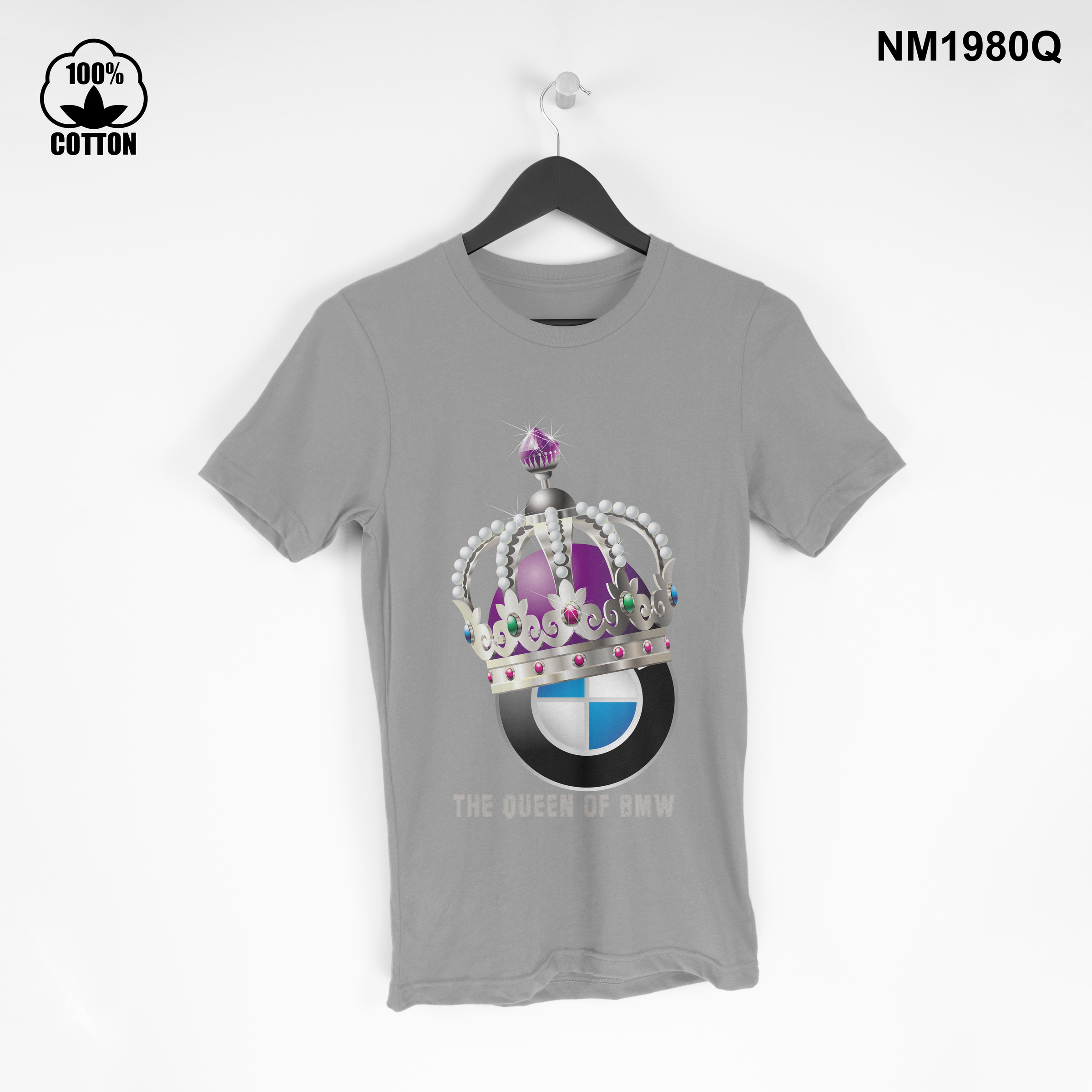 1.37 the Queen of BMW T Shirt Tee mens Clothing New Design gainsboro.jpg