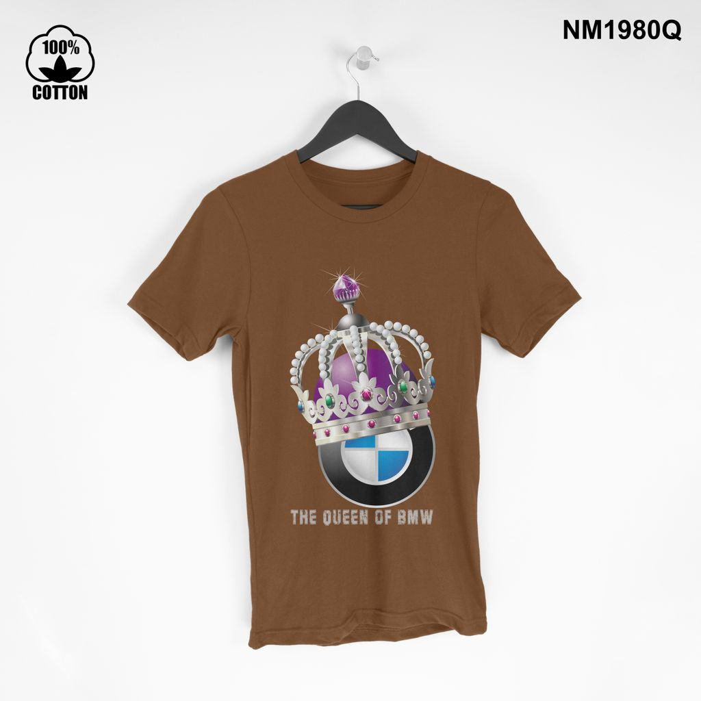 1.37 the Queen of BMW T Shirt Tee mens Clothing New Design saddle brown.jpg