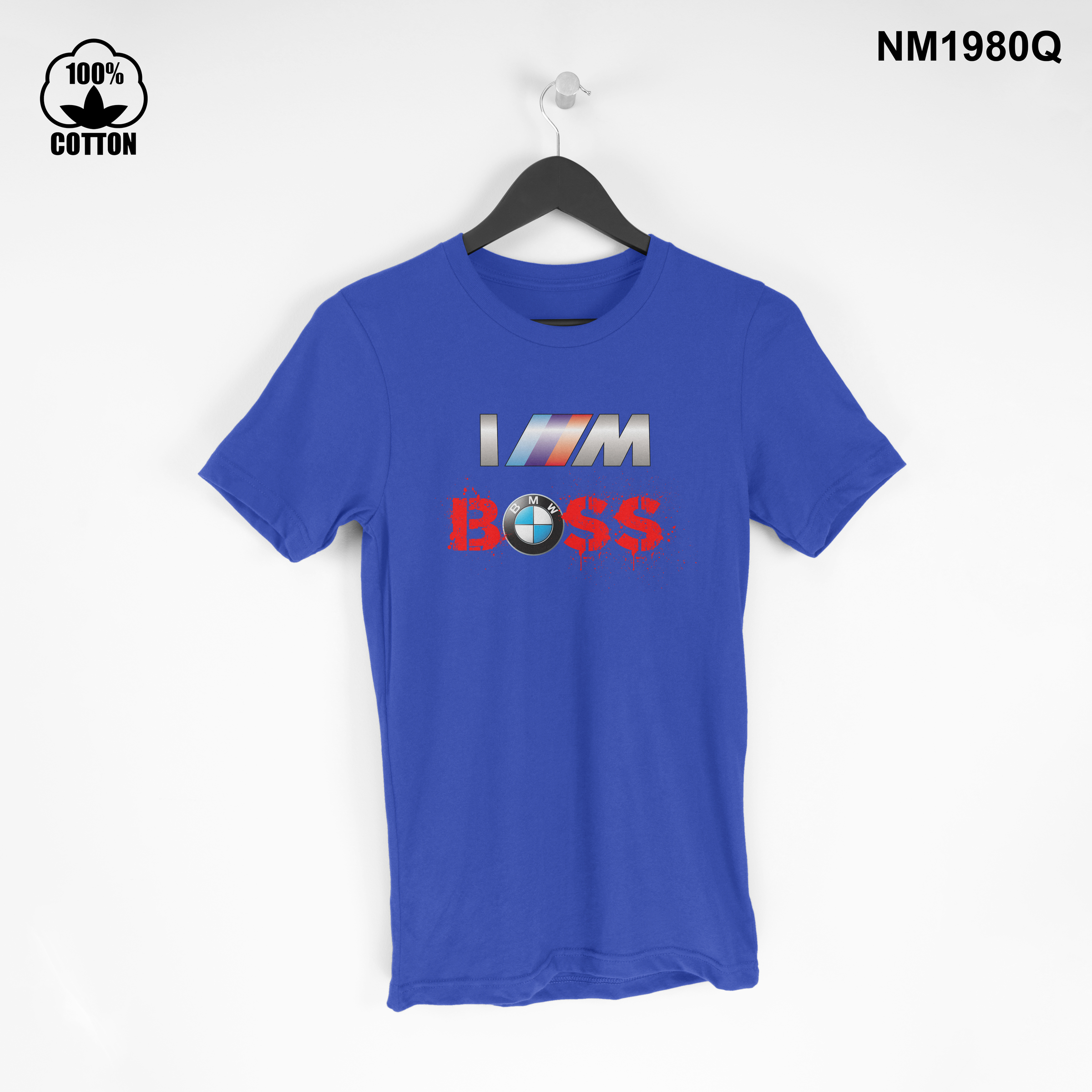 1.42 New Design BMW I M BOSS T Shirt Tee Short Sleeve Unisex dodger blue.jpg