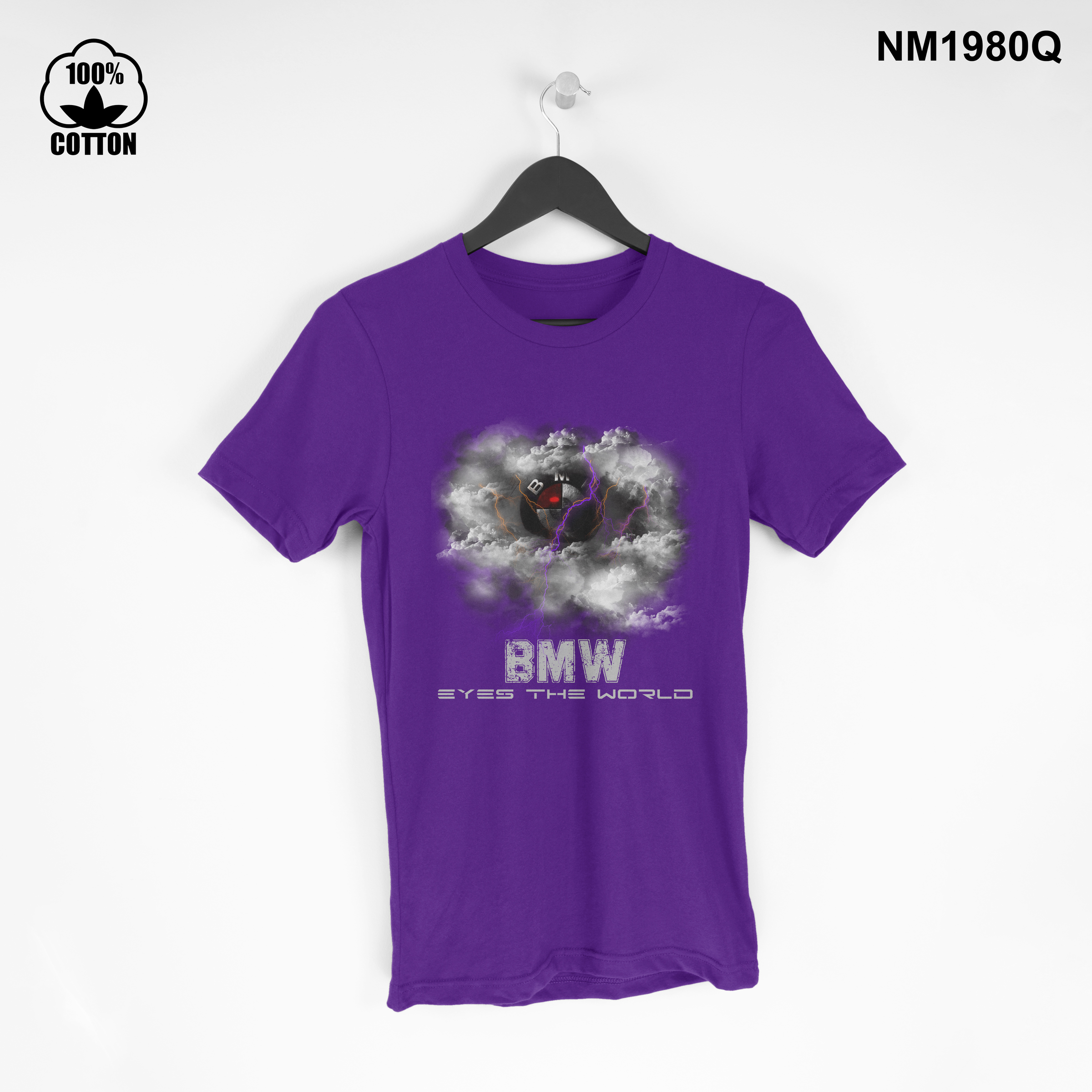 1.44 New Design Creative BMW eyes The World T Shirt Tee Unisex blue violet.jpg